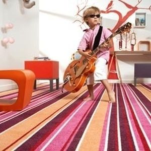cut pile synthetic carpet FUNKY STRIPES Balta Broadloom