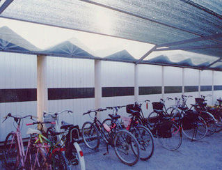 cycle stand with shelter for public spaces EMIS FRANCE