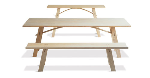 design bench in certified solid wood (FSC-certified) CLIFTON by Terence Conran BENCHMARK