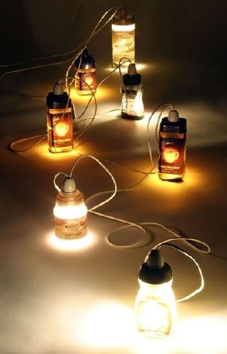 design portable lamp in reclaimed material JAR JAR LIGHTS by Sebastian Hejna Farm