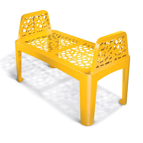 design public bench in metal CORAL SEAT LAB23
