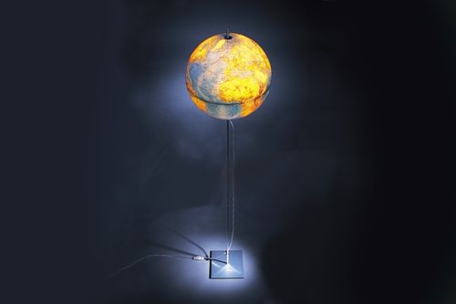 design PVC floor lamp GLOBE by Michael Rösing ABSOLUT LIGHTING