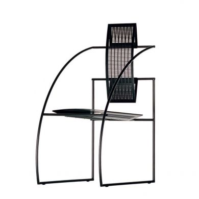 design sled base chair with armrests by Mario Botta QUINTA - 605 ALIAS