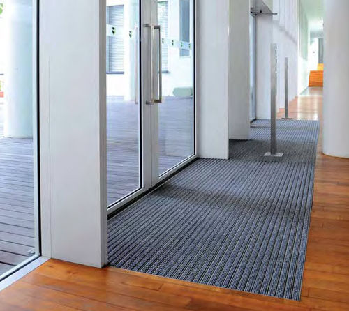 dust control entrance mat for commercial building TOP CLEAN TREND® WITH RIBBED CARPET Geggus EMC