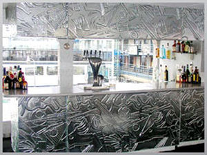 etched pattern float glass panel (for tables, counter-tops) SPECIALITY Central Canadian Glass Inc.
