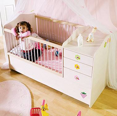 extendable baby bed (girls) BABY FLOWER Cilek AS