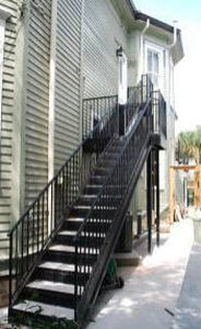 exterior straight staircase STAIRWAYS inc