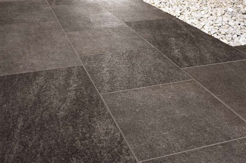 full body porcelain stoneware tile for exterior floors EXTERNAL : NERO ARIANA CERAMICA ITALIANA