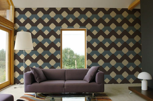 geometric non-woven wallpaper CRABE 46 GAF