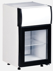 glass door refrigerator KBC 25 C KLEO-FRANCE