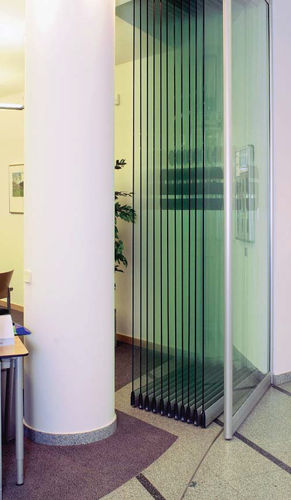 glass folding partition KWV-TEC - TRIMLESS  KWIK-WALL Company