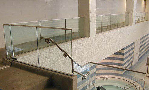 glass railing Couturier Iron Craft