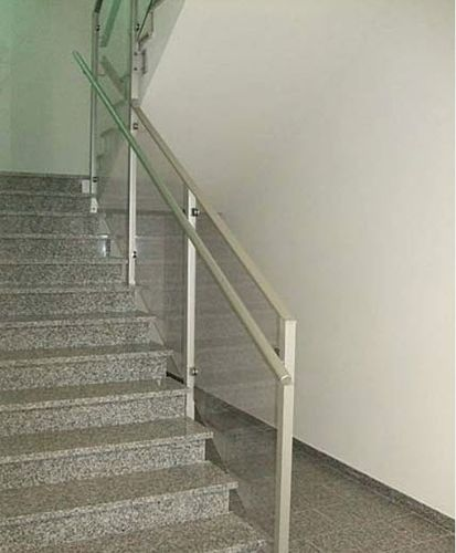 glass railing (with metal handrail) VETAGRO SPA ALUSCALAE