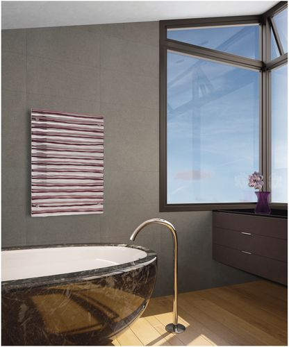 hot water / electric design radiator (venitian glass) The Glass Radiator Company