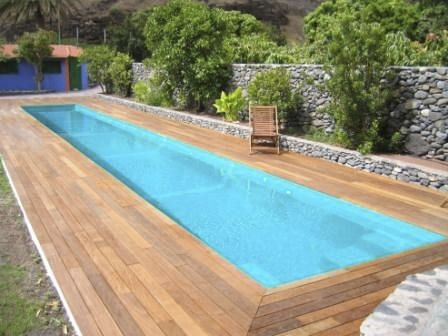 Inground one-piece swimming pool in fiberglass (lap pool) - Multiforma