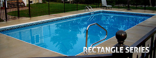 inground wall swimming pool (aluminium) RECTANGLE Radiant Pools