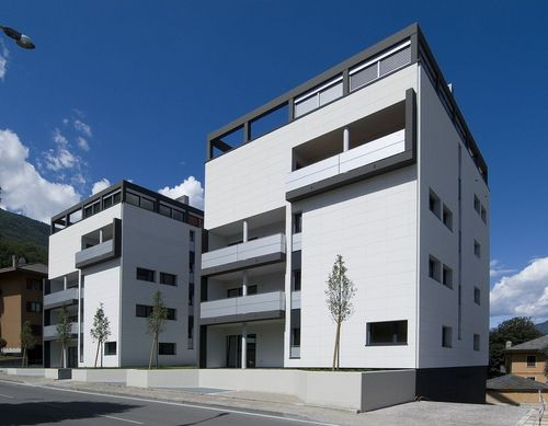 insulated fibre-reinforced cement cladding for ventilated fa&ccedil;ade PIZ H 89 PIZ srl