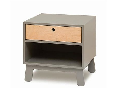 kids bed-side table in solid non treated wood (finish: natural water based paint) SPARROW NIGHTSTAND GREY Oeuf