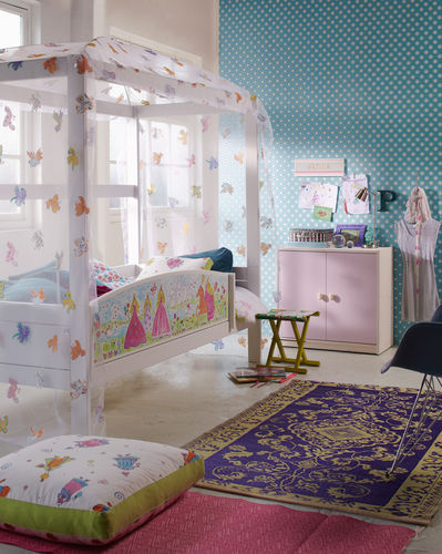 kids canopy bed (girls) FOUR-POSTER PRINCESSES LIFE TIME