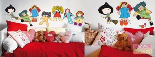 kids detachable vinyl wall sticker (girls) COUS COUS MY DOLS Vavex 1990