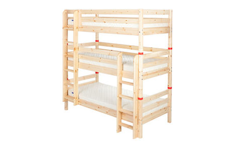 kids triple bunk bed (unisex) 90-10007-1-01 FLEXA
