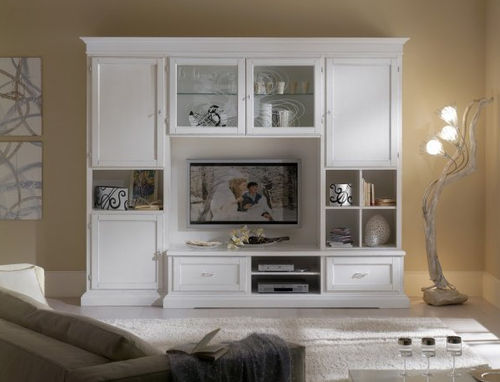 lacquered wood traditional TV wall unit FIRENZE : 904 VACCARI CAV. GIOVANNI