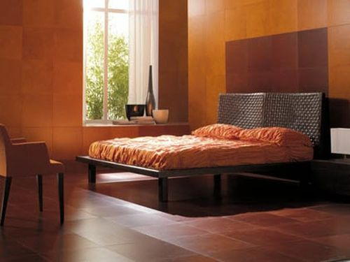 leather floor tile ARIA BEDROOM LINEACUOIO