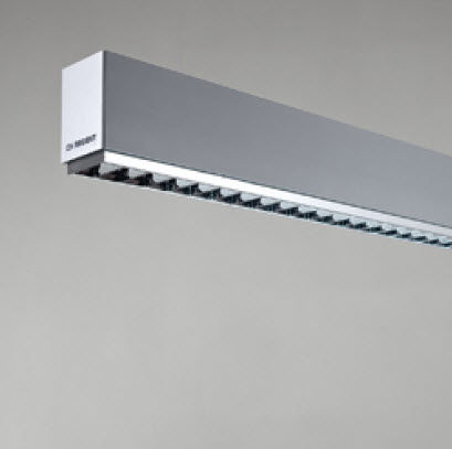 linear ceiling mounted fluorescent luminaire (for offices) SLASH REGENT