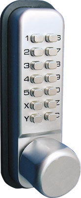 mechanical combination door lock for light use KABA MECHANICAL PUSH BUTTON LOCK, KNOB WITH HOLDBACK  H&auml;fele GmbH &amp; Co KG
