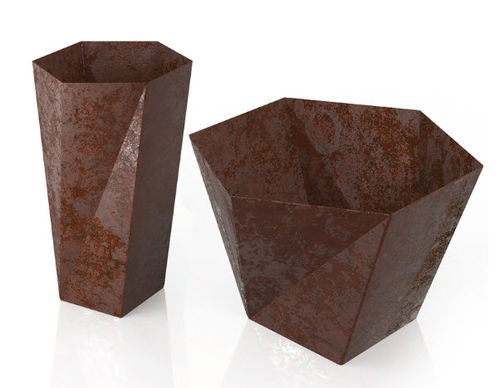 metal planter for public spaces FIVE LAB23
