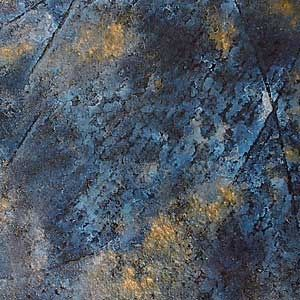 non-slip float glass panel (for walkways) FAUX COBALT BLUE/GOLD Nathan Allan Glass Studios Inc