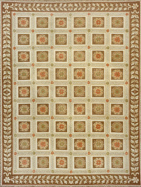oriental floral patterned rug BURCINA Lee Jofa