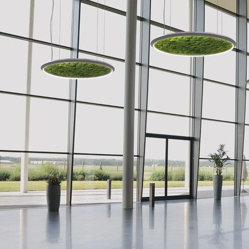 Pendant lamp / contemporary / aluminum / acrylic glass LUCE VERDE : SLIM Sattler GmbH