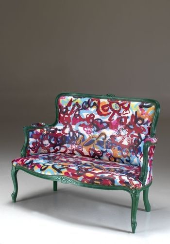 pop art design sofa by Francesco Cuomo MIRABILI Arte d'Abitare