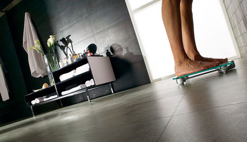 porcelain stoneware floor tile: concrete look METAL EFFECT CEMENT : EVOLUTION Ceracasa Ceramica