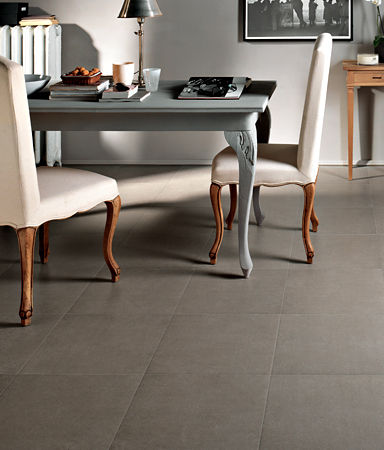 porcelain stoneware floor tile: plain color COMPASS ANN SACKS