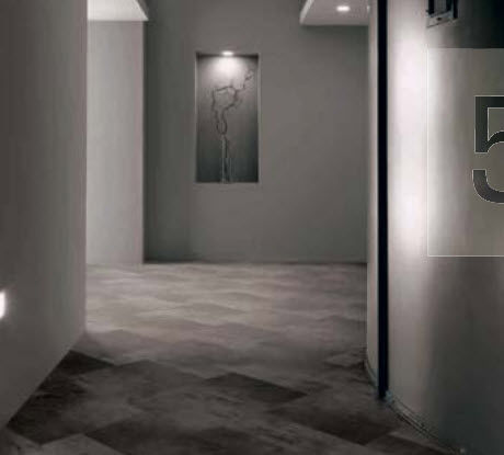 porcelain stoneware tile ONE : GREY DARK CASTELVETRO