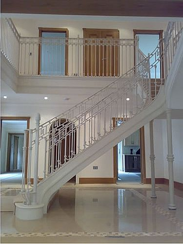 quarter-turn staircase with a lateral stringer New Forest Metal Work