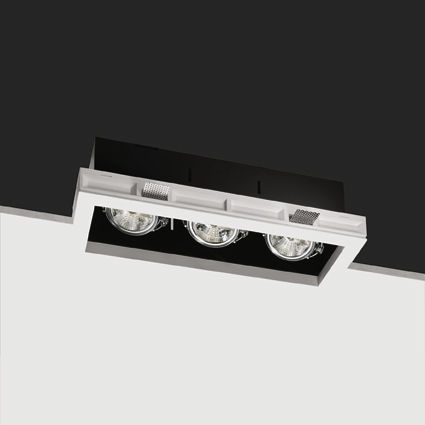 recessed ceiling halogen spotlight (cardan, low voltage) BLACK BOX 3 BUZZI &amp; BUZZI