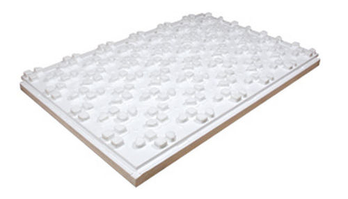 rigid expanded polystyrene insulation panel for underfloor heating Roth France
