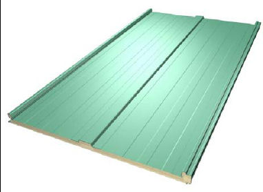 sandwich panel: metal and polyurethane core (PUR) DELFOS EUROACÚSTIC Europerfil