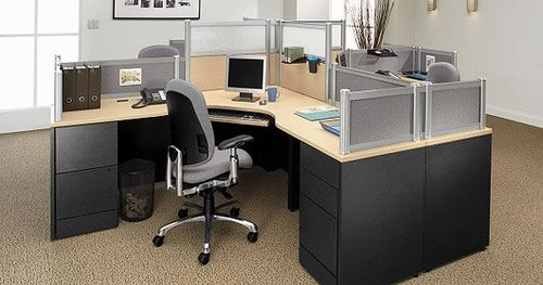 shared workstation for open plan office ADAPTABILITIES® WITH DIVIDE� GLOBAL totaloffice