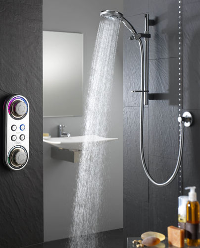 shower set with digital mixer tap (wireless transmission) ILUX CONCEALED OVAL HEAD aqualisa