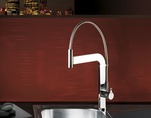 single handle mixer tap for kitchen with pull out spray MICRO Webert