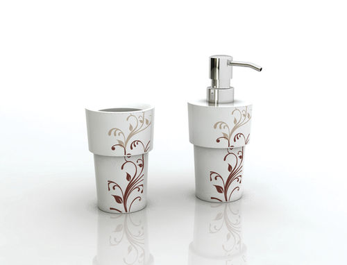 soap dish with toothbrush holder B-SP-FL B-SL-FL groove design