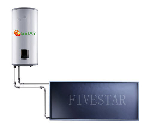 solar water heater with backup electric resistance  FS-SMJ SERIES FIVESTAR SOLAR ENERGY CO LTD