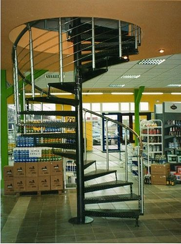 spiral staircase for commercial buildings (metal frame and steps) ATRIUM SYSTEM HEAVY METAL GRAND Atrium