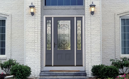 steel entrance door with window pane PROFILES&amp;trade; THERMA-TRU DOORS