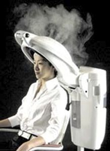 telescopic dryer hood for hairdressers MICRO MIST TAKARA BELMONT