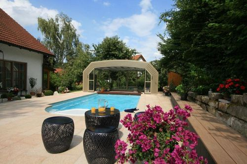 telescopic high pool enclosure SAN MARINO PARADISO INTERNATIONAL